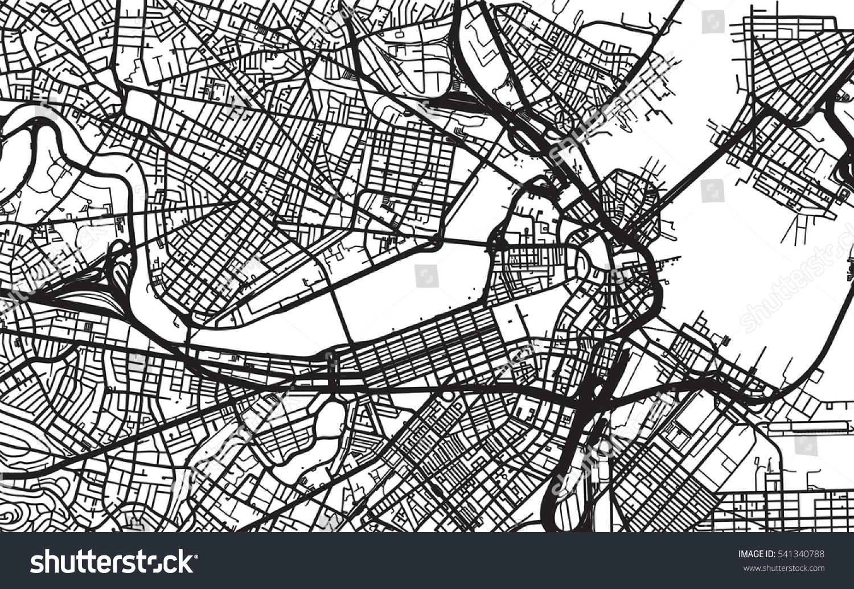 Urban City Map Boston Usa Stock Vector Shutterstock - Boston usa map