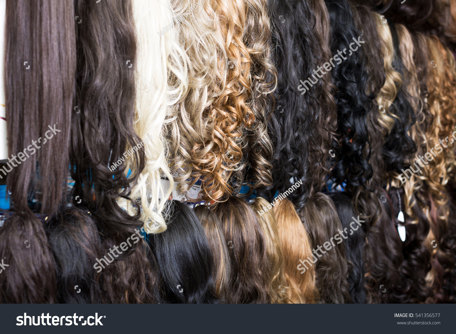 Premium Different Color Clipin Hair Extensions Stock Photo Royalty