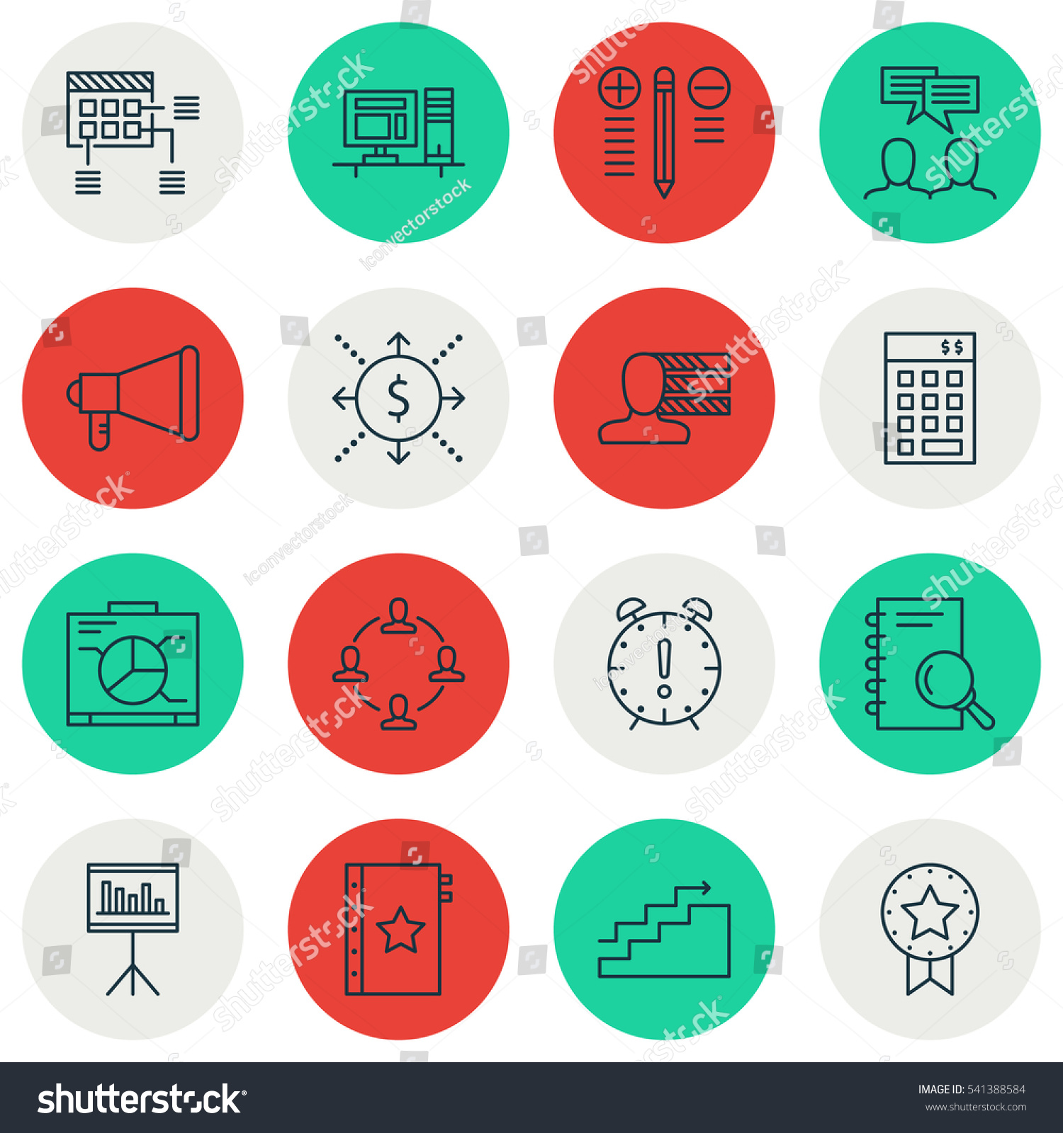 Set 16 Project Management Icons Includes Stock Vector 541388584