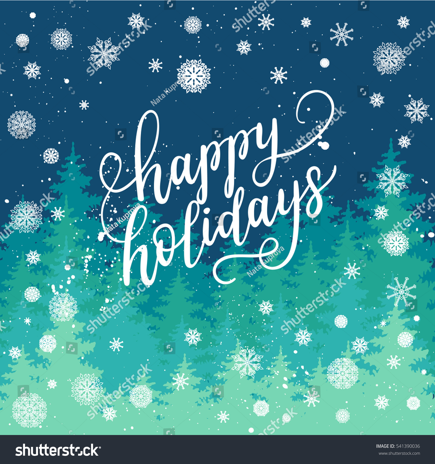 Happy Holidays Greeting Card New Year Stock Vector Royalty Free