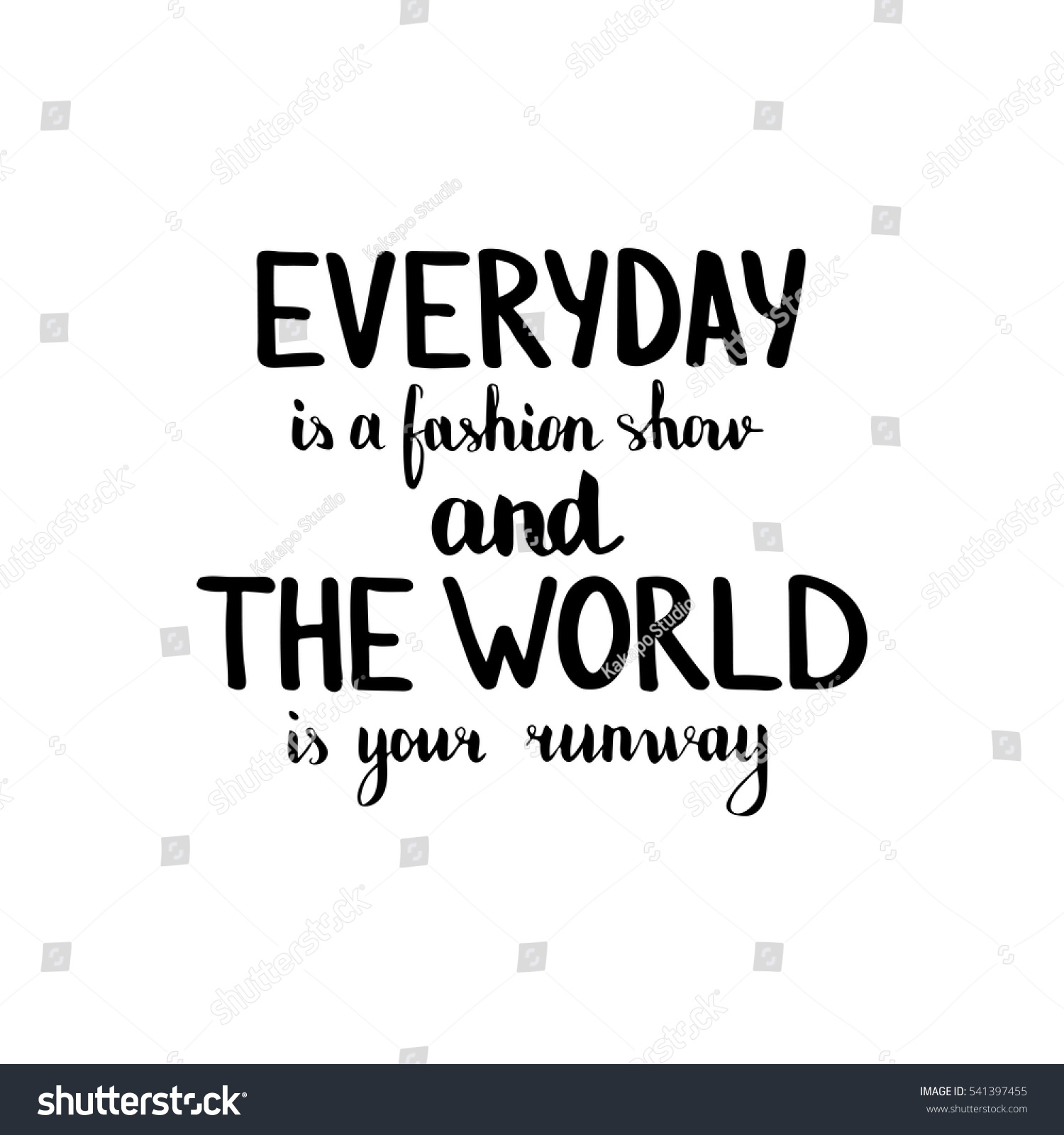 Everyday Fashion Show World Your Runway Stock Vector ...