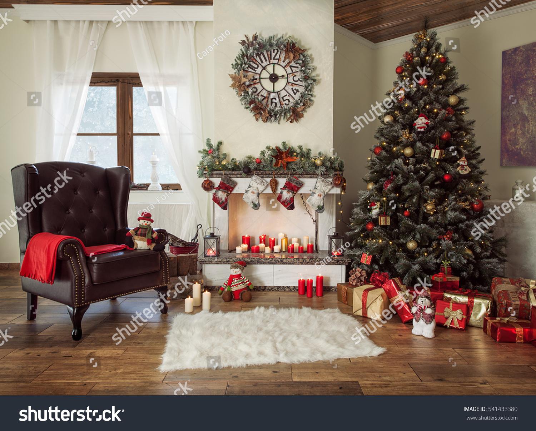 Beautiful Decorated Living Room Christmas Tree Stock Photo 541433380 Shutterstock
