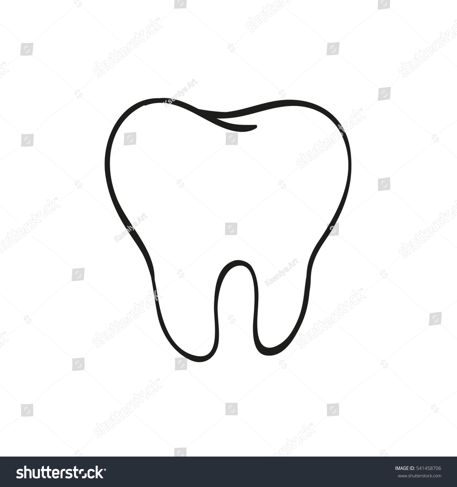 Tooth Line Drawing Tumblr : Tooth drawing illustration pixshark images