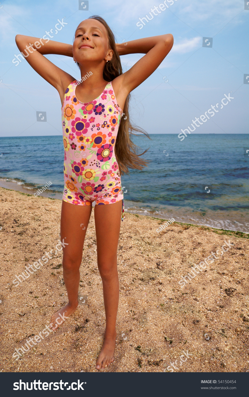 Girl On Sea Beach Royalty Free Stock Photos - Image: 12722538