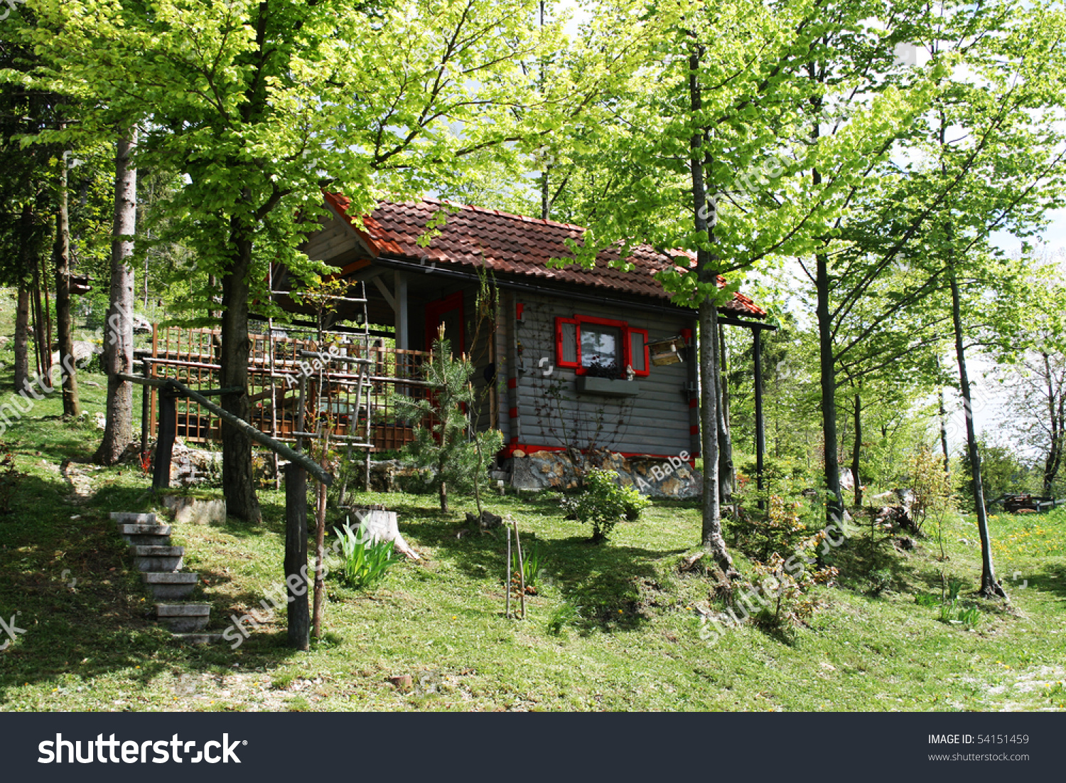 Small Wooden Cottage Stock Photo 54151459 Shutterstock