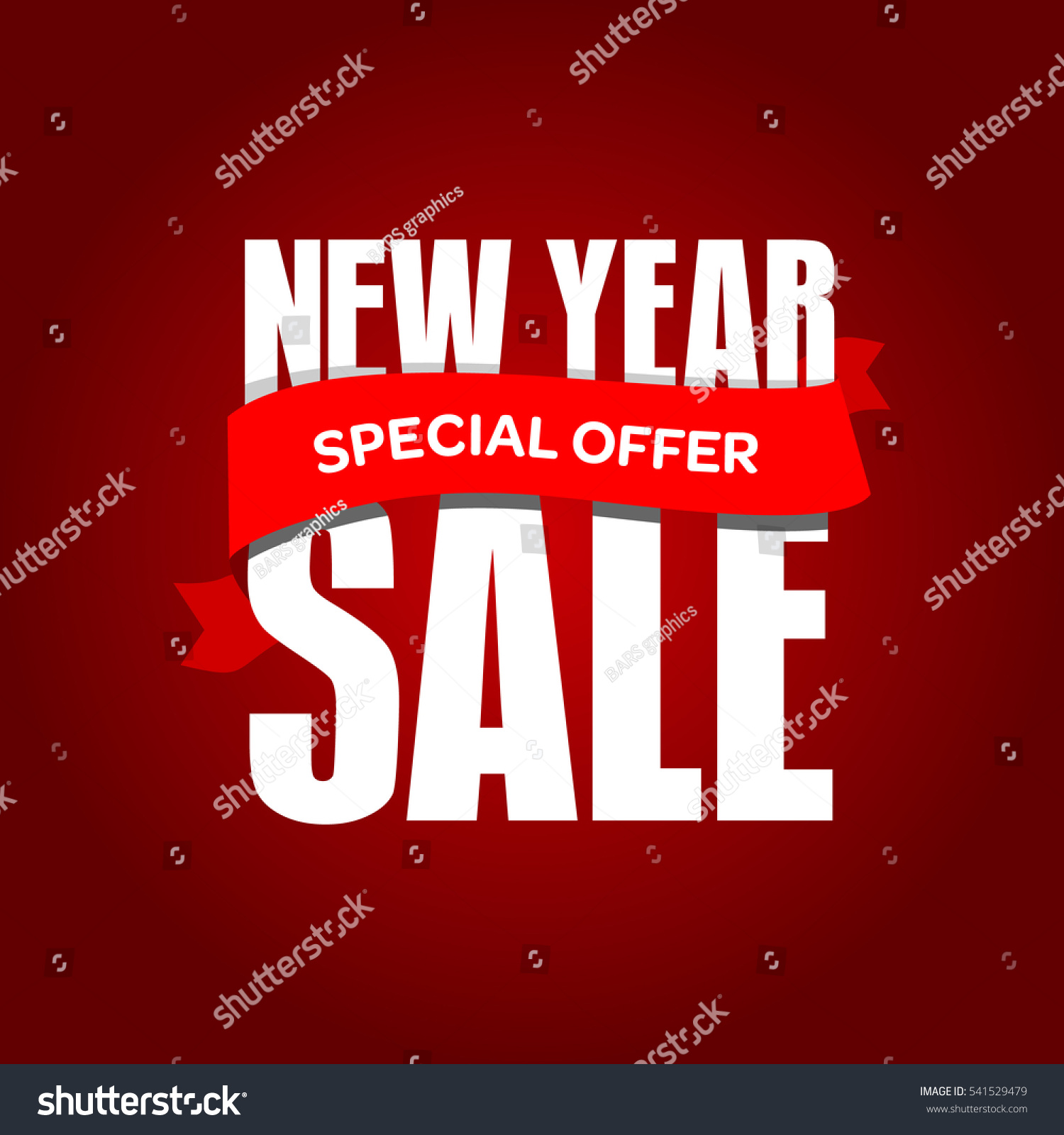 new year sale badge label promo banner template special offer text on ribbon