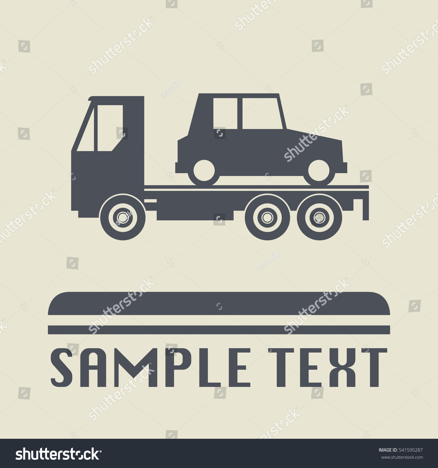 Car Salvage Towing Icon Sign Vector Stock Vector 541595287 ...