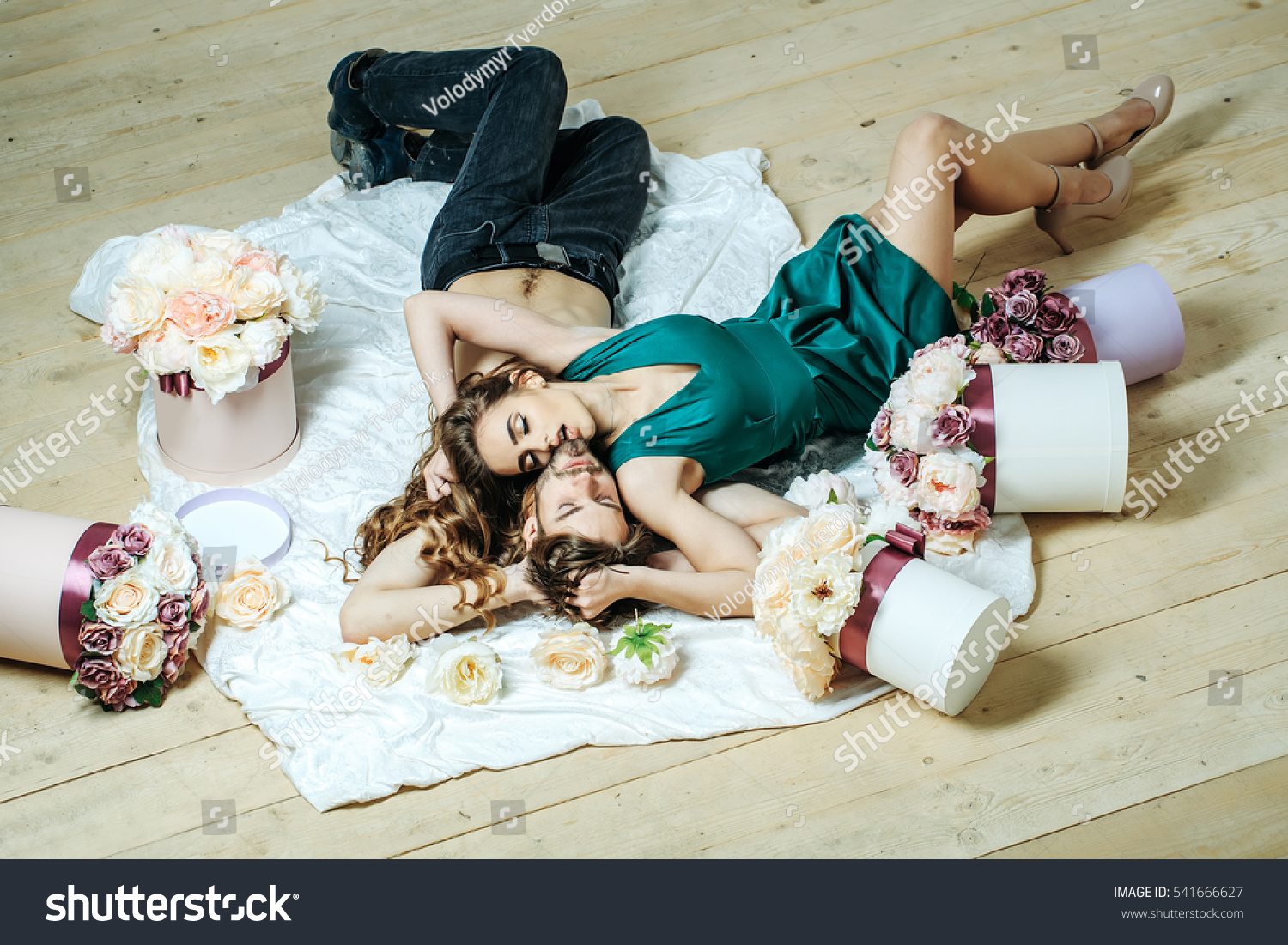 Sexy Couple Young Beautiful Cute Lovers Stock Photo -2080