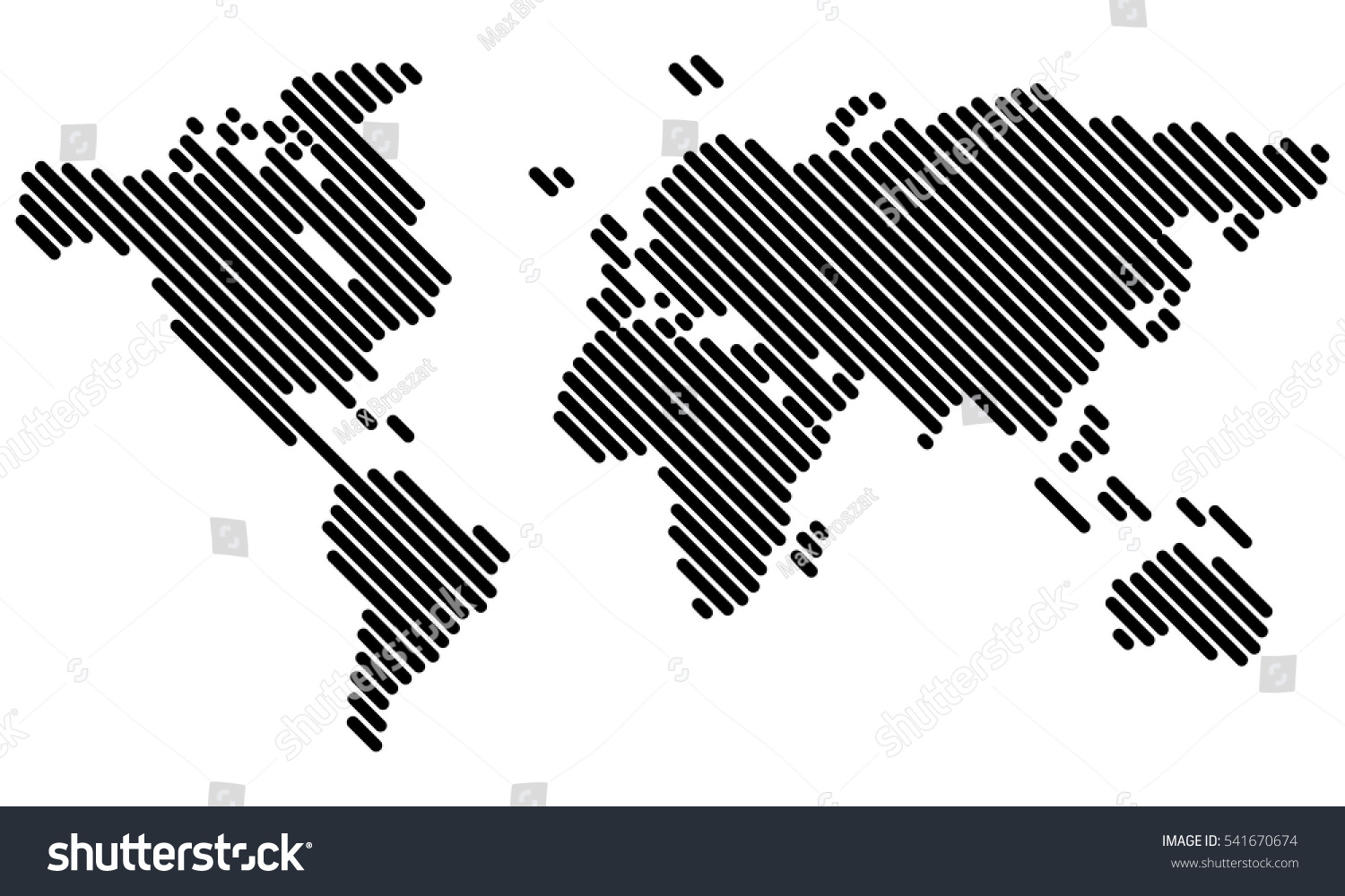 Vector world map lines stock vector 541670674 shutterstock vector world map lines gumiabroncs Image collections