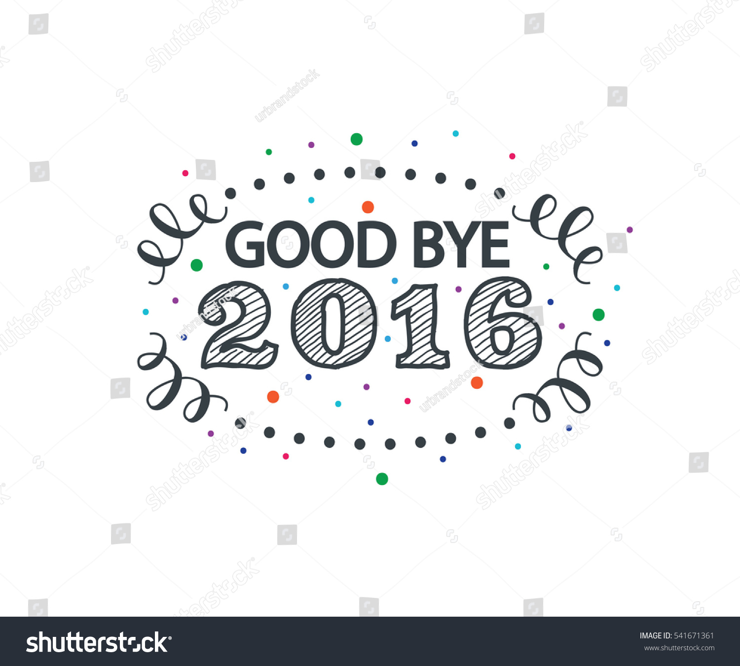 Good bye 2016 greeting card digital stock vector 541671361 good bye 2016 greeting card for digital campaign or graphic design resource kristyandbryce Image collections