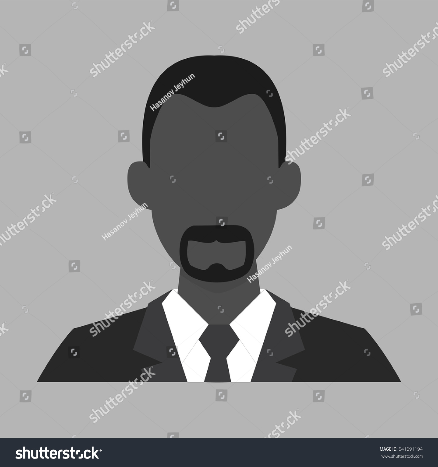 Male Profile Picture Placeholder Vector Illustration Stock Vector