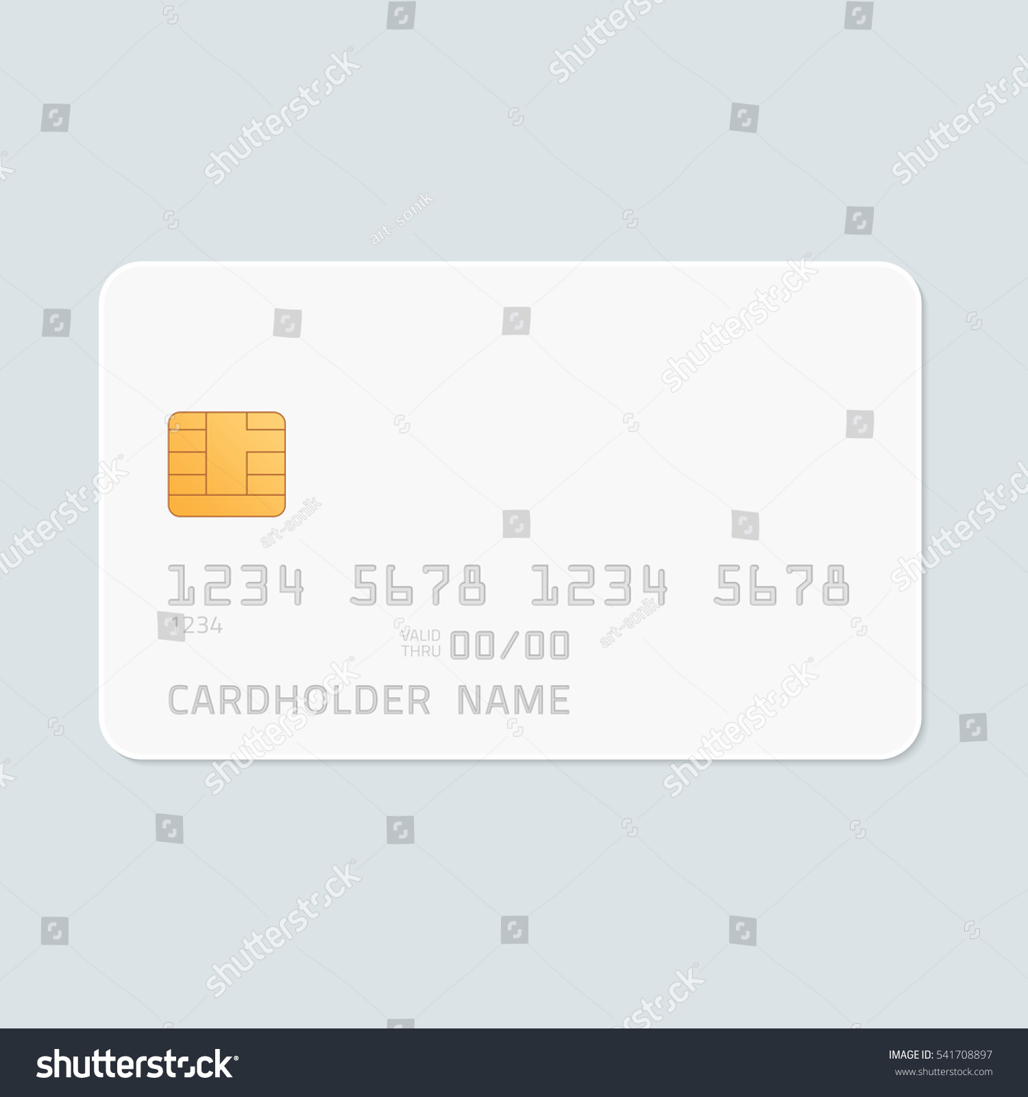 credit card realistic mockup clear plastic stock vector
