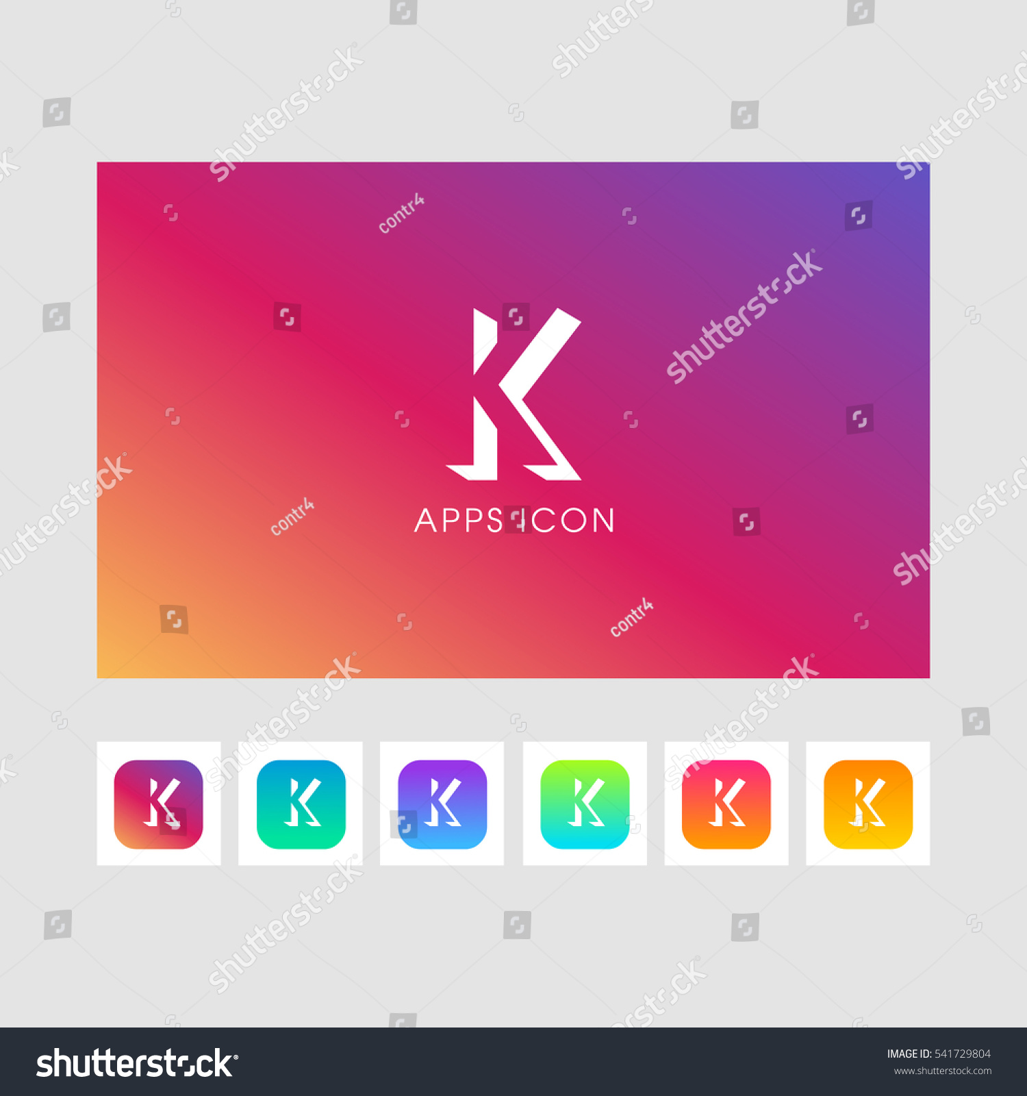 K Shadow Letter Logo Gold Color Stock Vector (Royalty Free ...