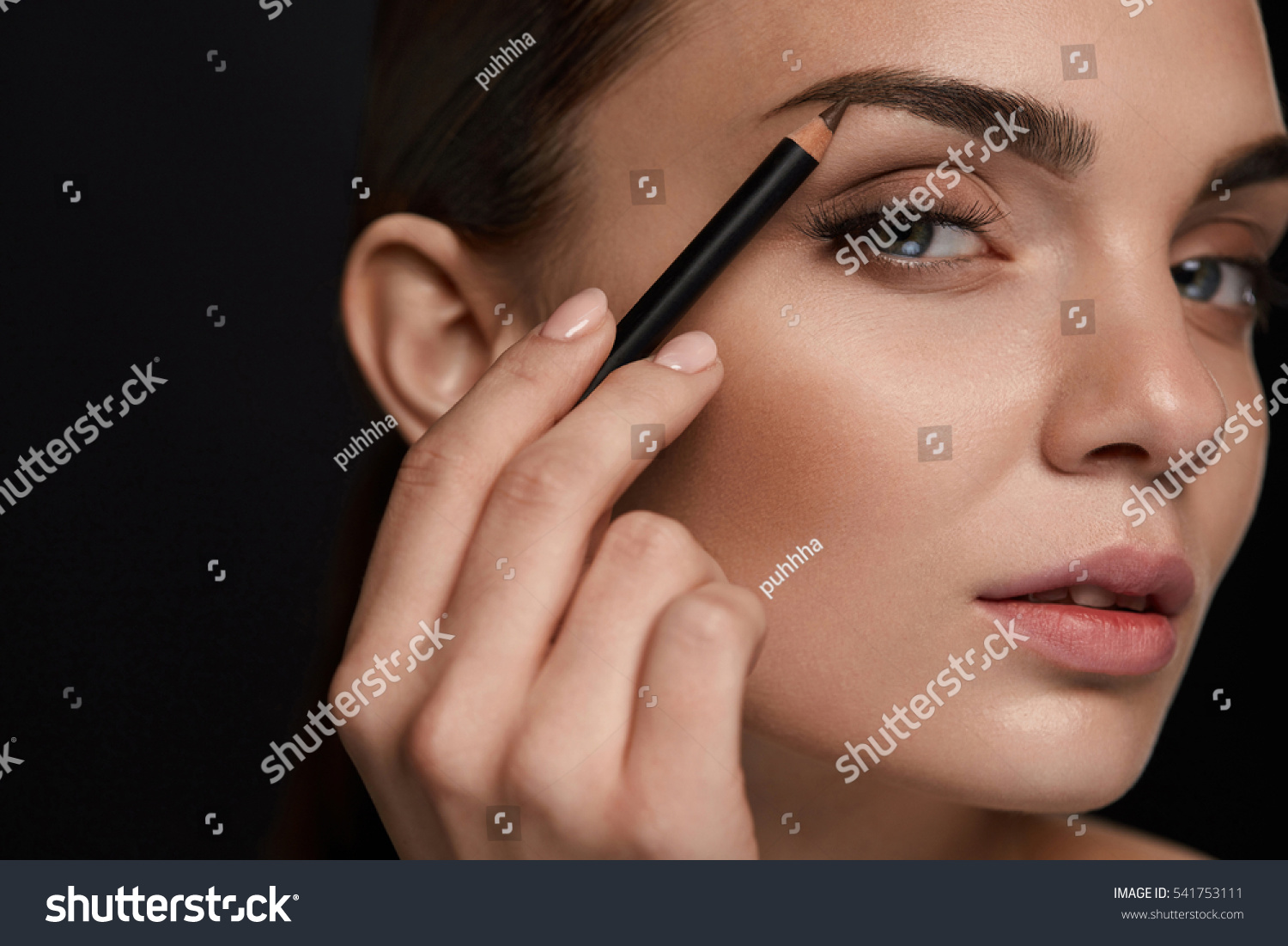 Eyebrows Shaping Portrait Sexy Young Girl Stock Photo Edit Now