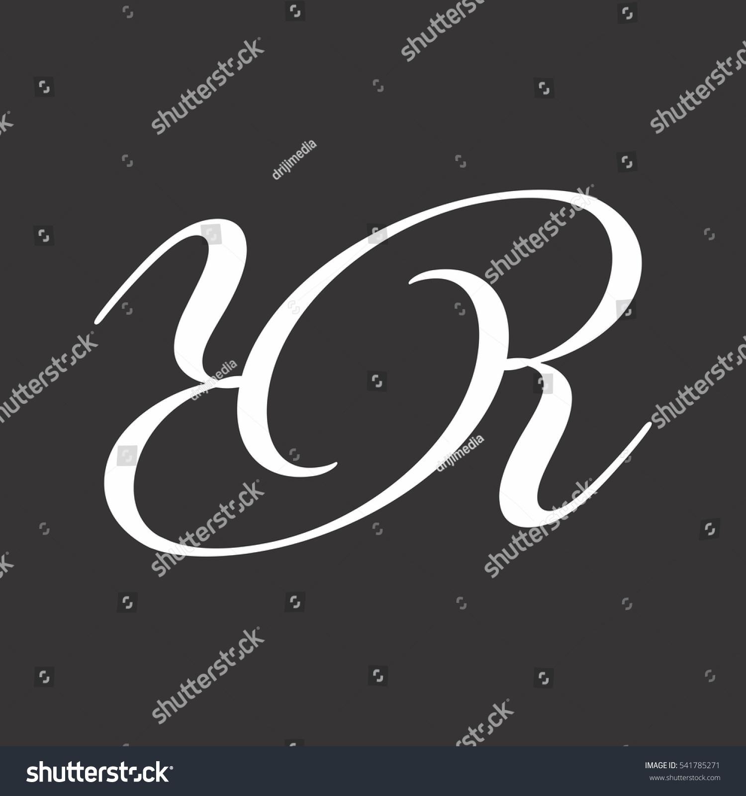 Black White Logo Letter Y R Stock Vector Royalty Free 541785271