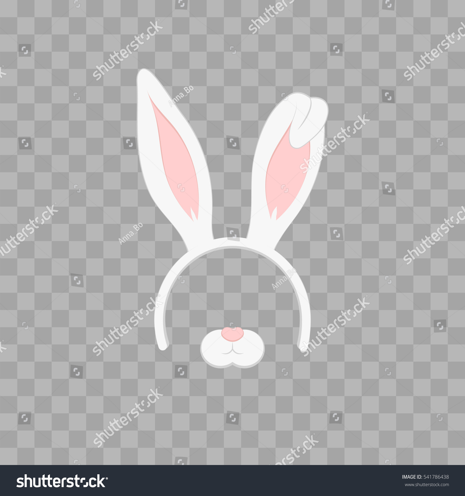 Easter Mask Rabbit Ears Isolated On Stock Vector (Royalty Free ...