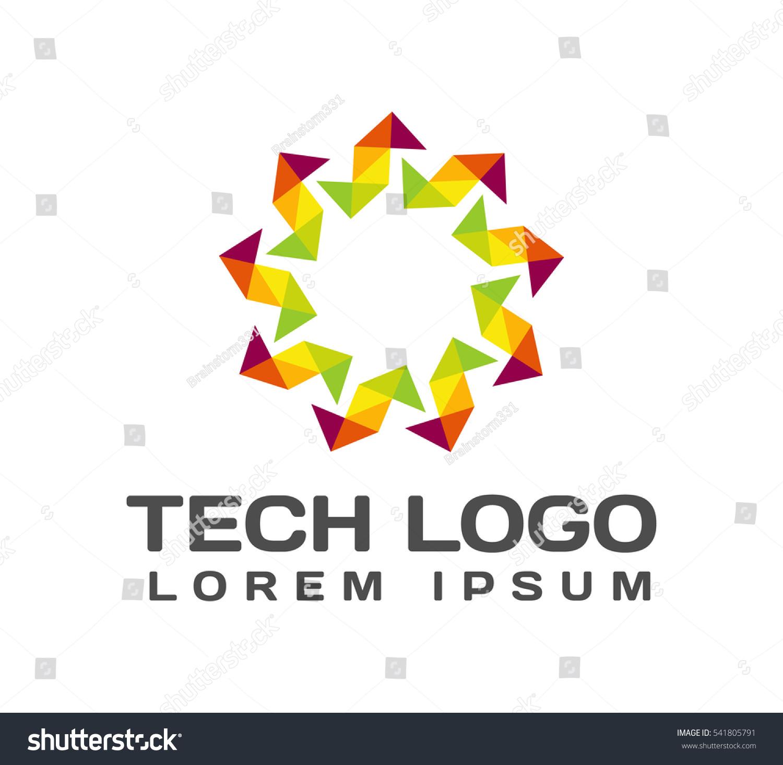 Origami Logo Origami Icon Technology Icon Stock Vector ... - photo#32