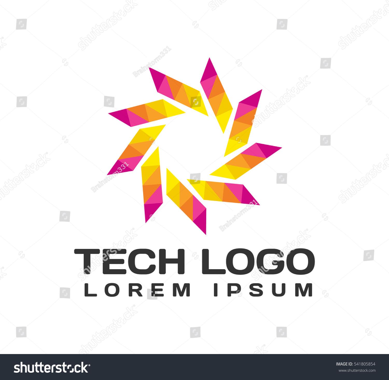 Origami Logo Origami Icon Technology Icon Stock Vector ... - photo#7