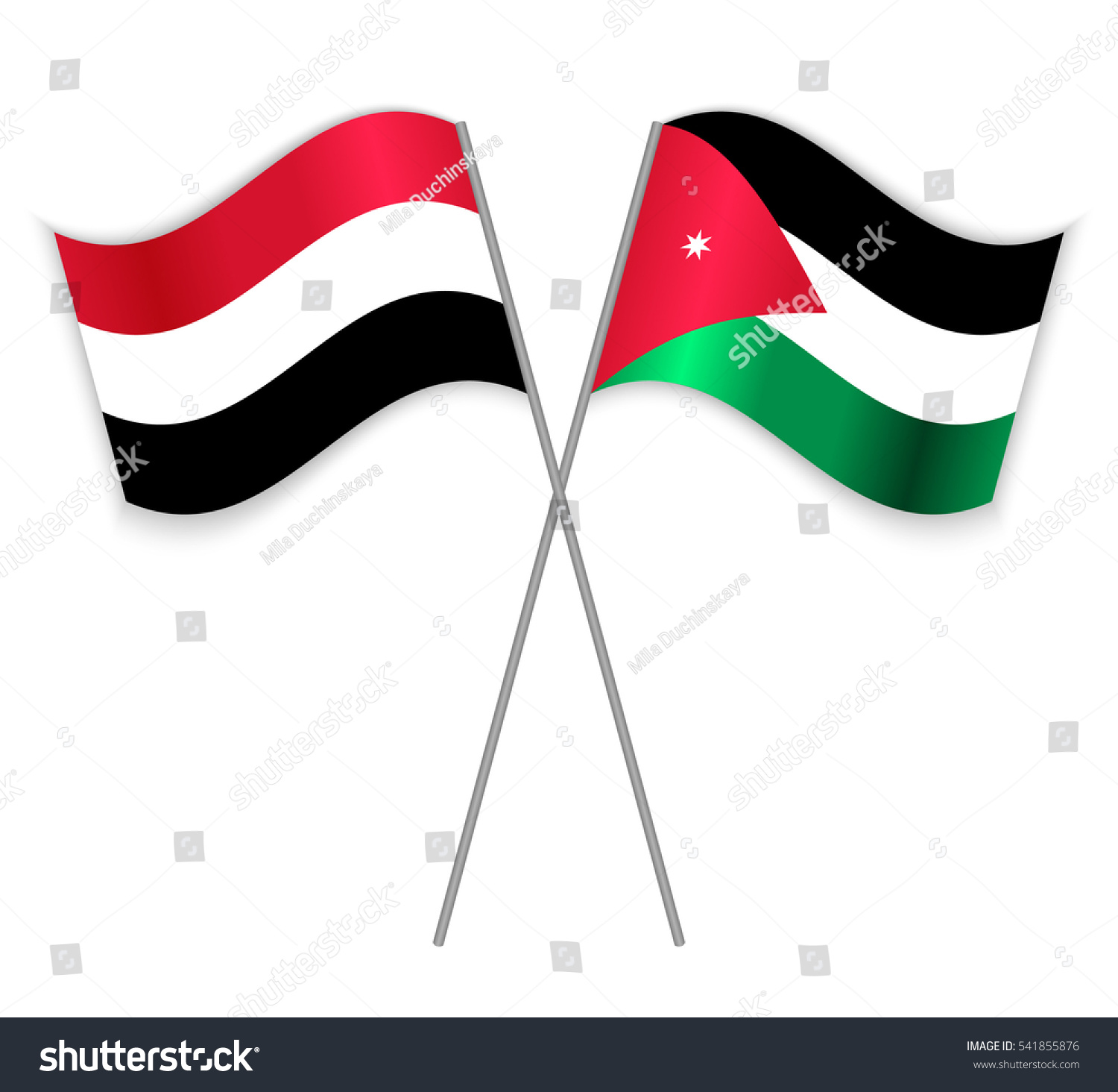 Yemeni Jordanian Crossed Flags Yemen Combined Stock Vector (Royalty on map of argentina, map of finland, map of japan, map of philippines, map of iraq, map of iran, map of austria, map of united arab emirates, map of saudi arabia, map of new caledonia, map of new zealand, map of honduras, map of indonesia, map of afghanistan, map of asia with yemen, map of yemen cities, map of yemen and surrounding countries, map of nigeria, map of pakistan,