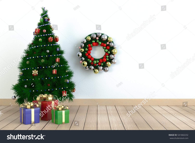Three Gift Boxes Under Christmas Tree Stock Illustration 541860232 ...