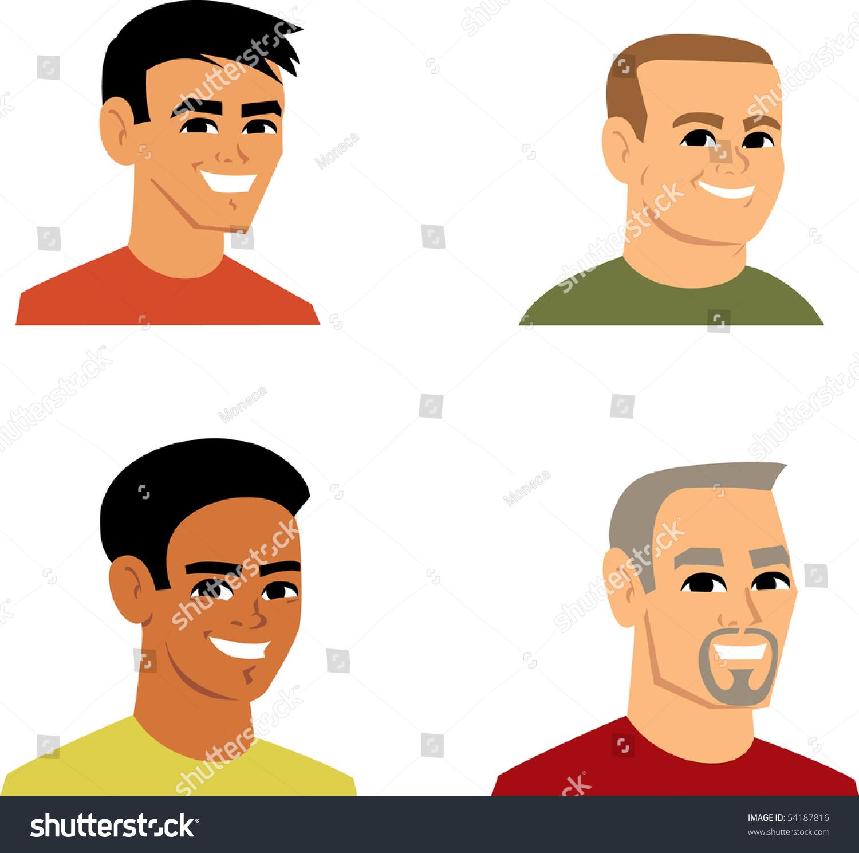 Avatar Icon Set 3 Cartoon Portrait Stock Vector 54187816 ...