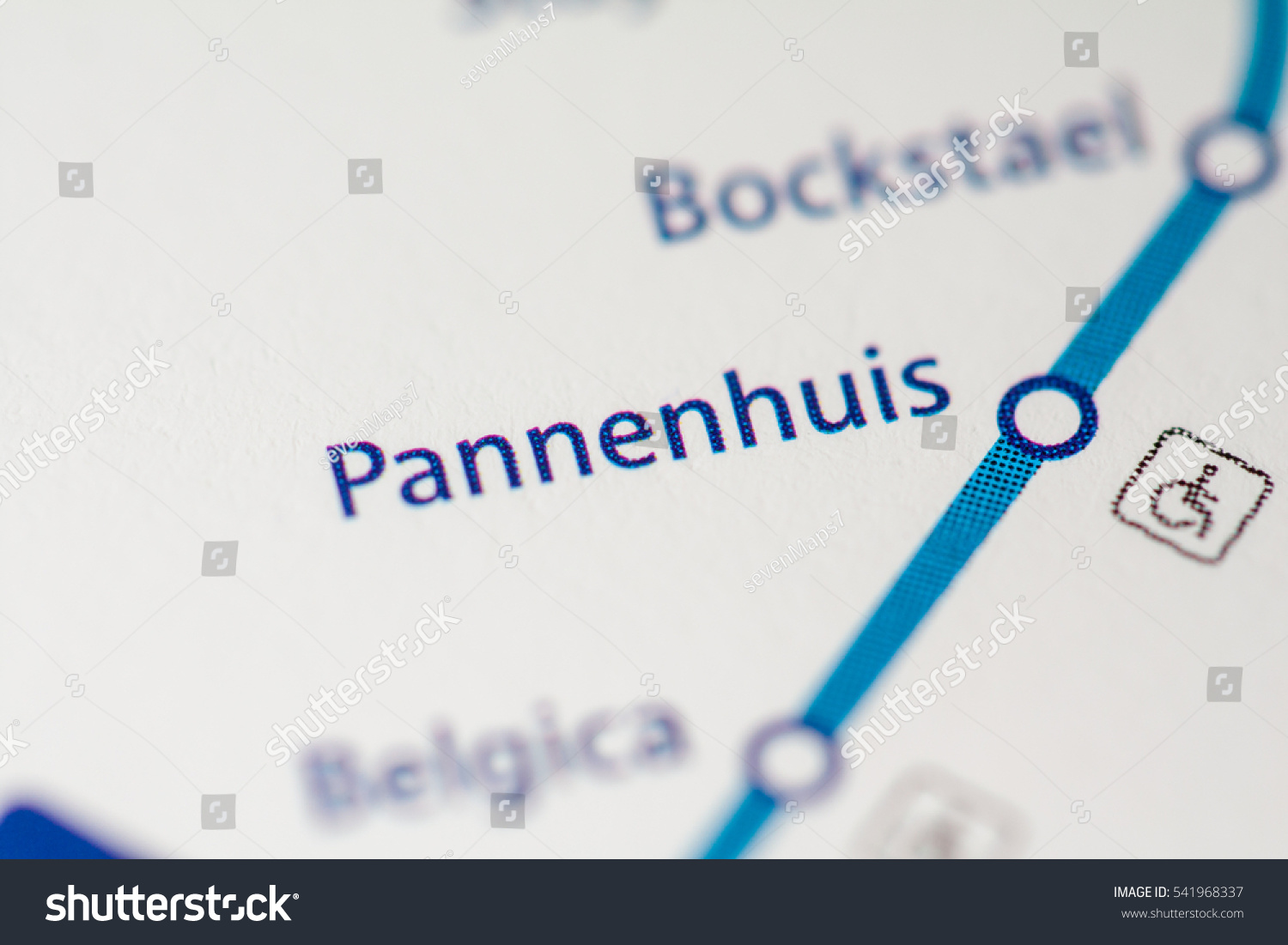 Pannenhuis Station Brussels Metro Map Stock Photo Edit Now