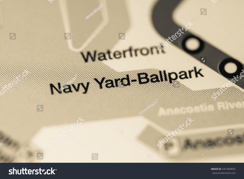 Navy Yard Ballpark Station Washington Dc Metro Stock Photo Edit Now