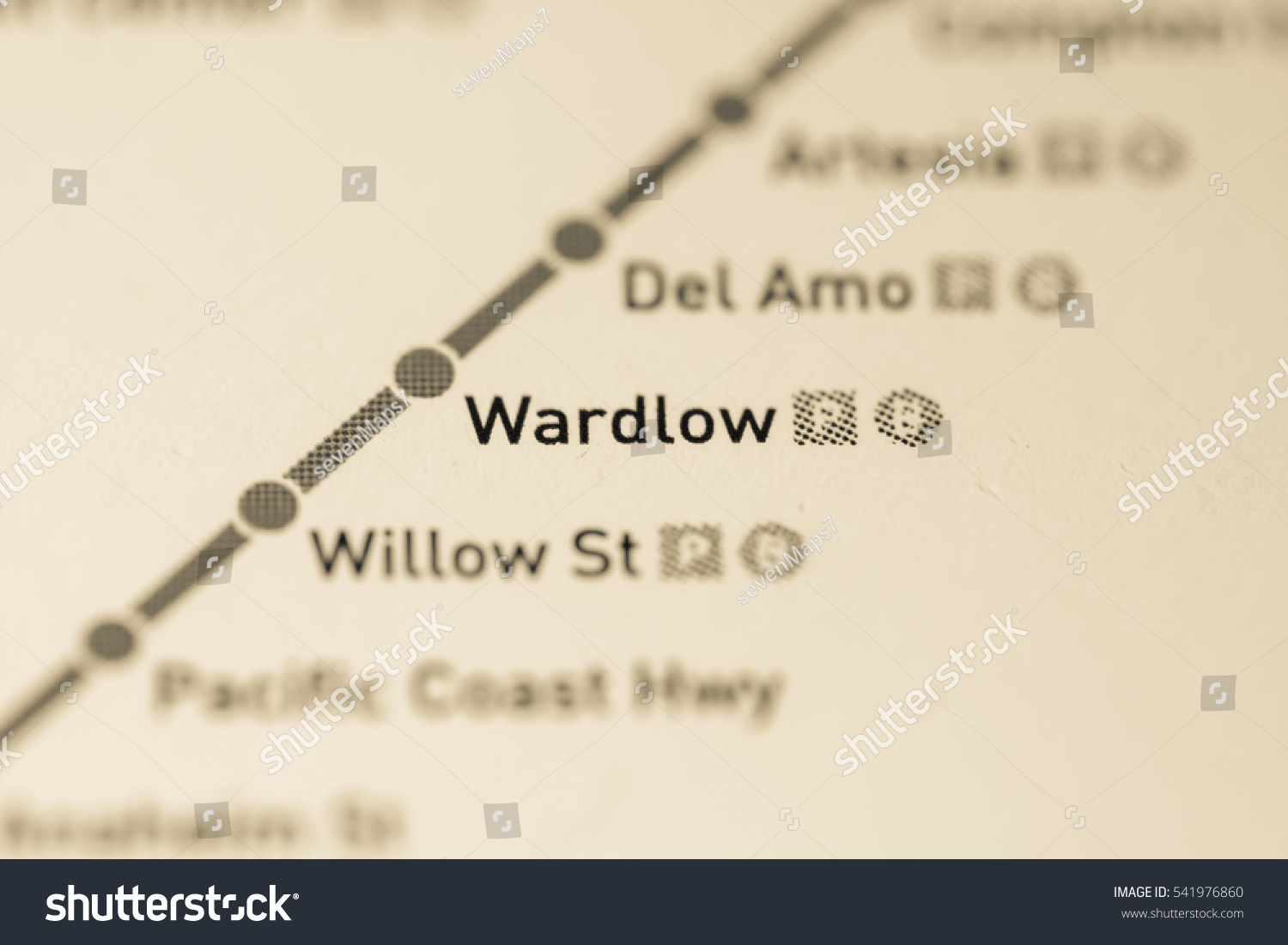 Wardlow Station Los Angeles Metro Map Stock Photo Edit Now