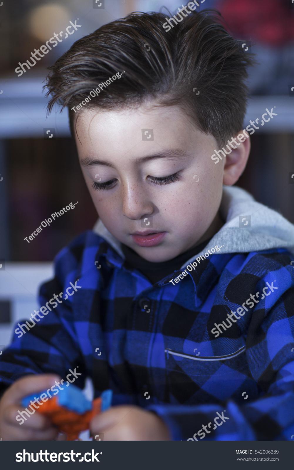 Little Boy Rockabilly Haircut Undercut Wearing Stock Photo Edit Now