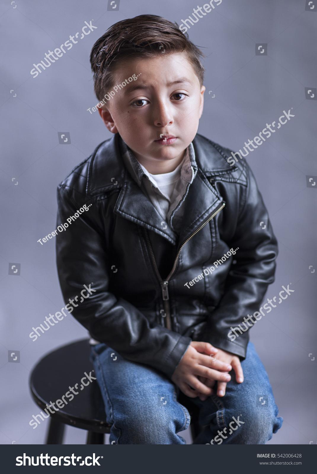 Punk Rock Roll Little Boy Rockabilly Stock Photo Edit Now