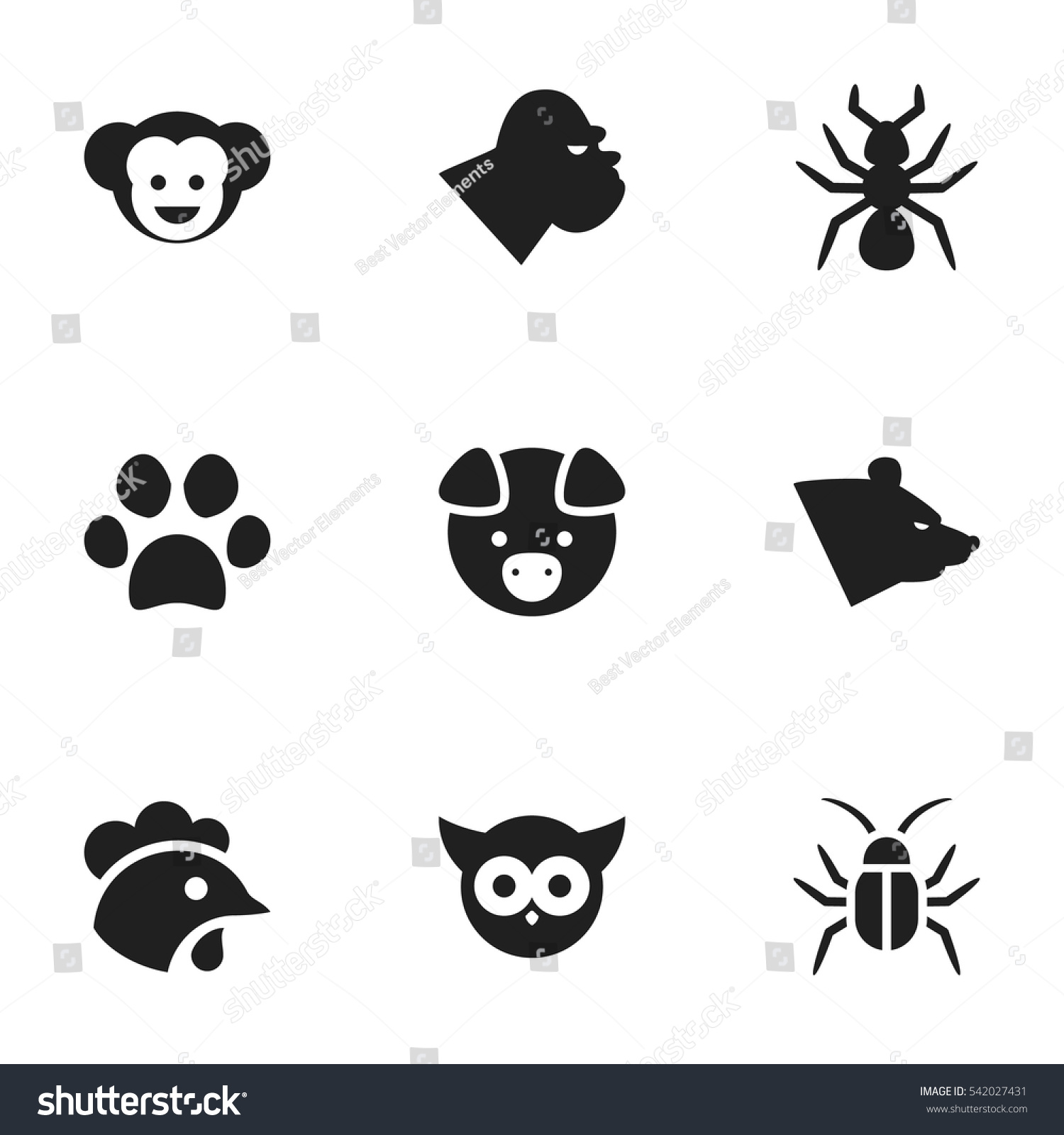 Set 9 editable zoo icons includes stock vector 542027431 set 9 editable zoo icons includes stock vector 542027431 shutterstock biocorpaavc