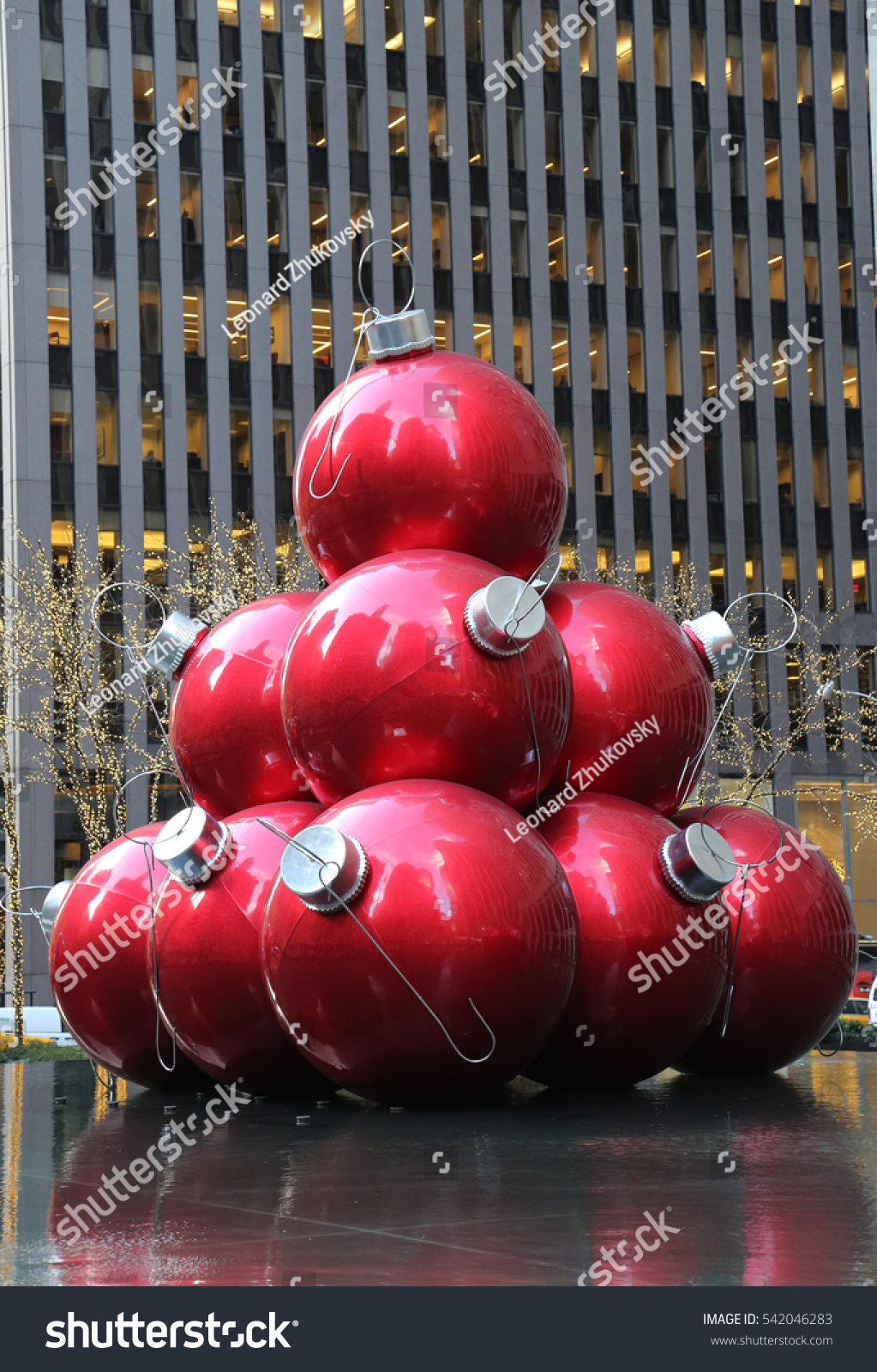 New york december 15 2016 christmas decorations in for Christmas decorations near me