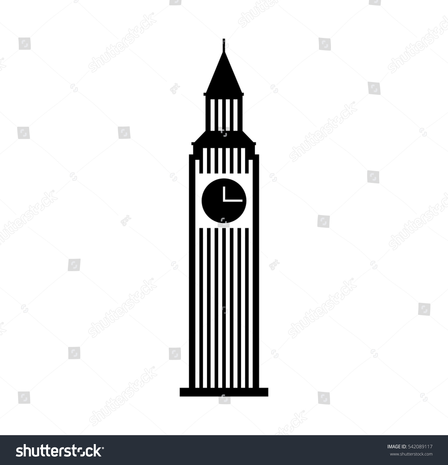 big ben building isolated icon vector stock vector 542089117 rh shutterstock com big ben vector image big ben vector free