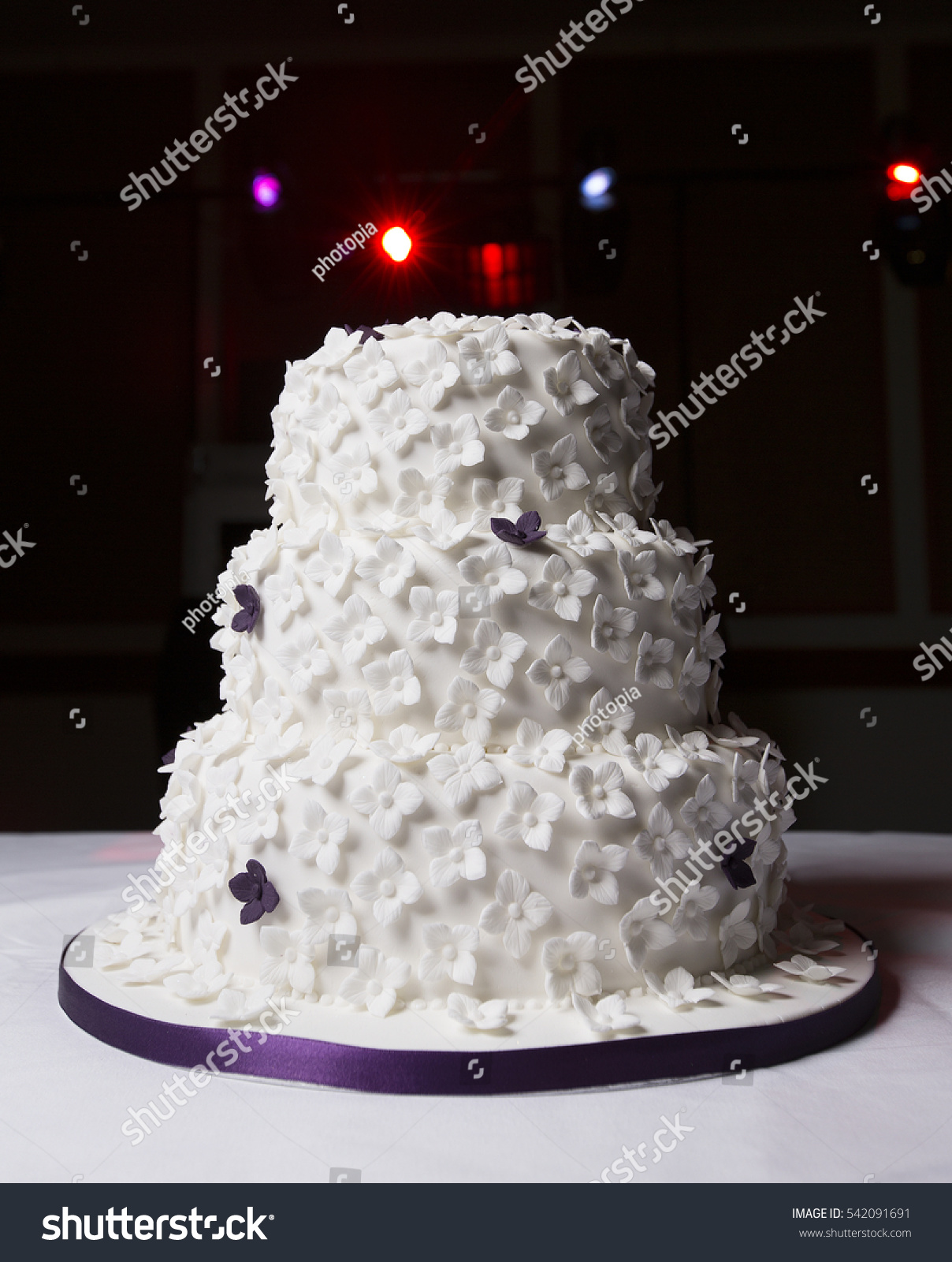 White Wedding Cake Butterfly Shape Icing Stock Photo (Royalty Free ...