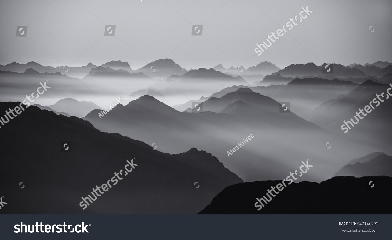 Mountain silhouettes #542146273