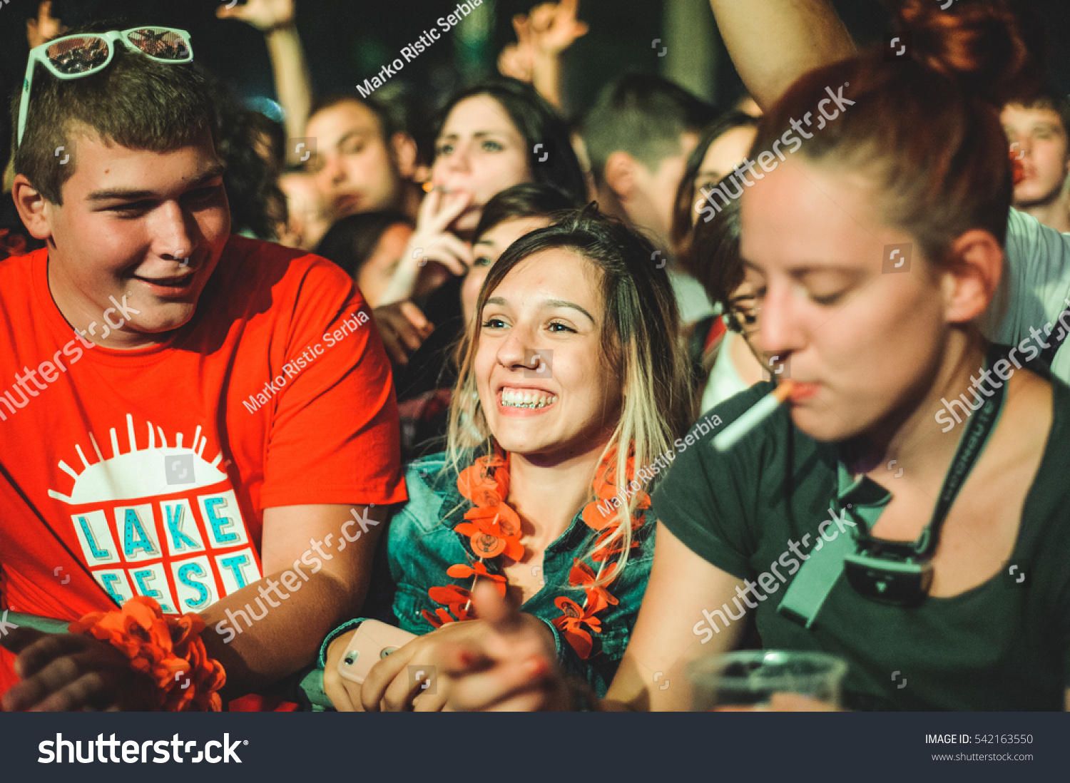 Niksic Montenegro August 14th Crowd During Stock Photo ...
