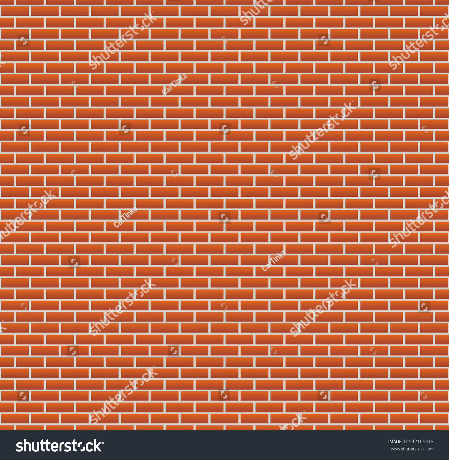 Background Red Brick Wall Seamless Wallpaper Stock Vector
