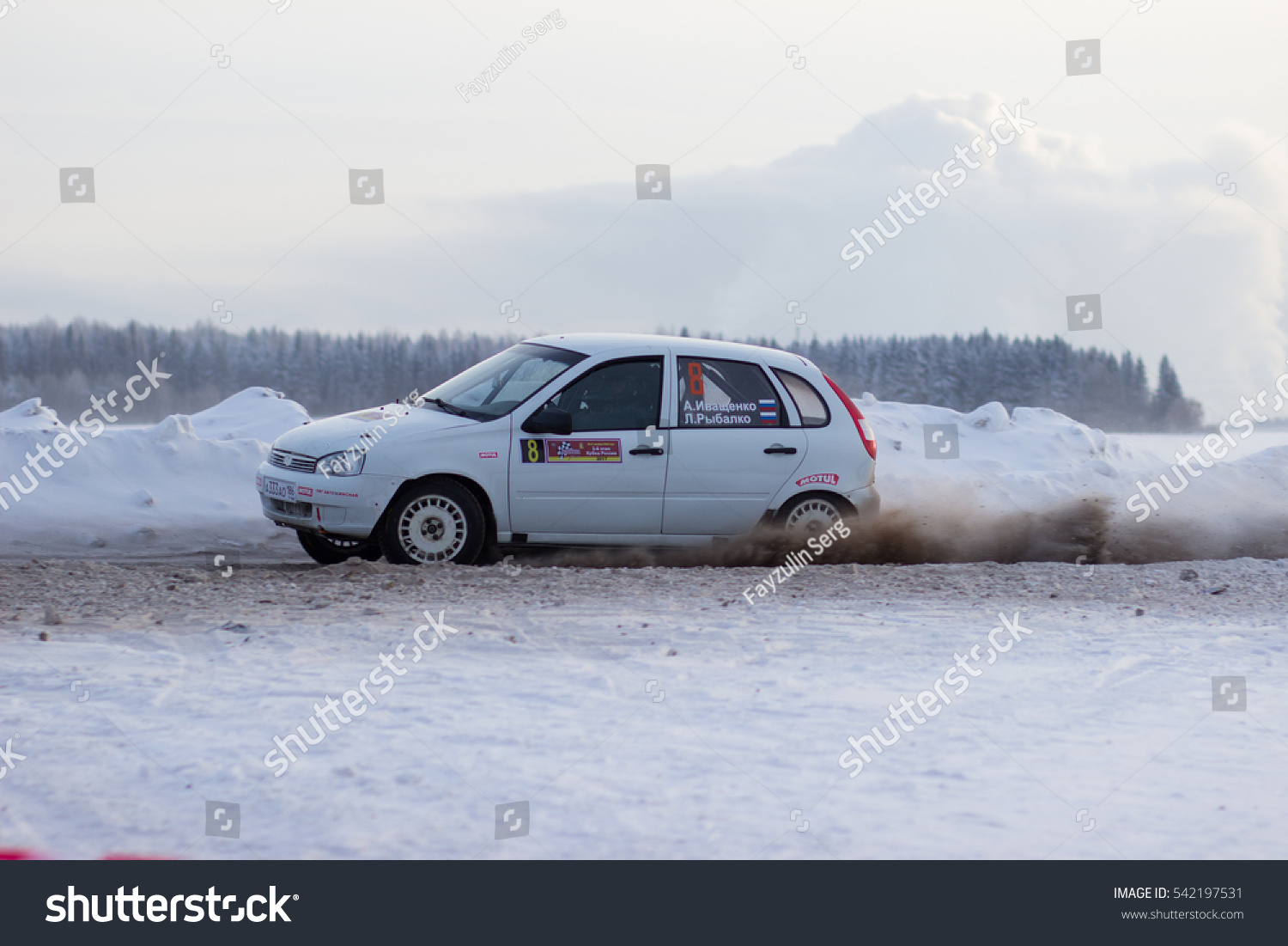 Kirov, Russia 17 December 2016   1st Stage Of The Russian Cup Rally 2017,
