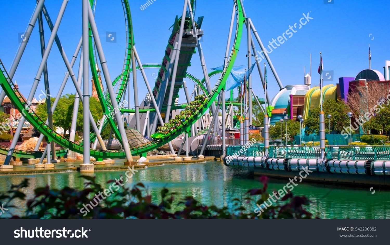 Map Of Universal Studios Florida.Orlando April 3 Game Pavilions Roller Stock Photo Edit Now
