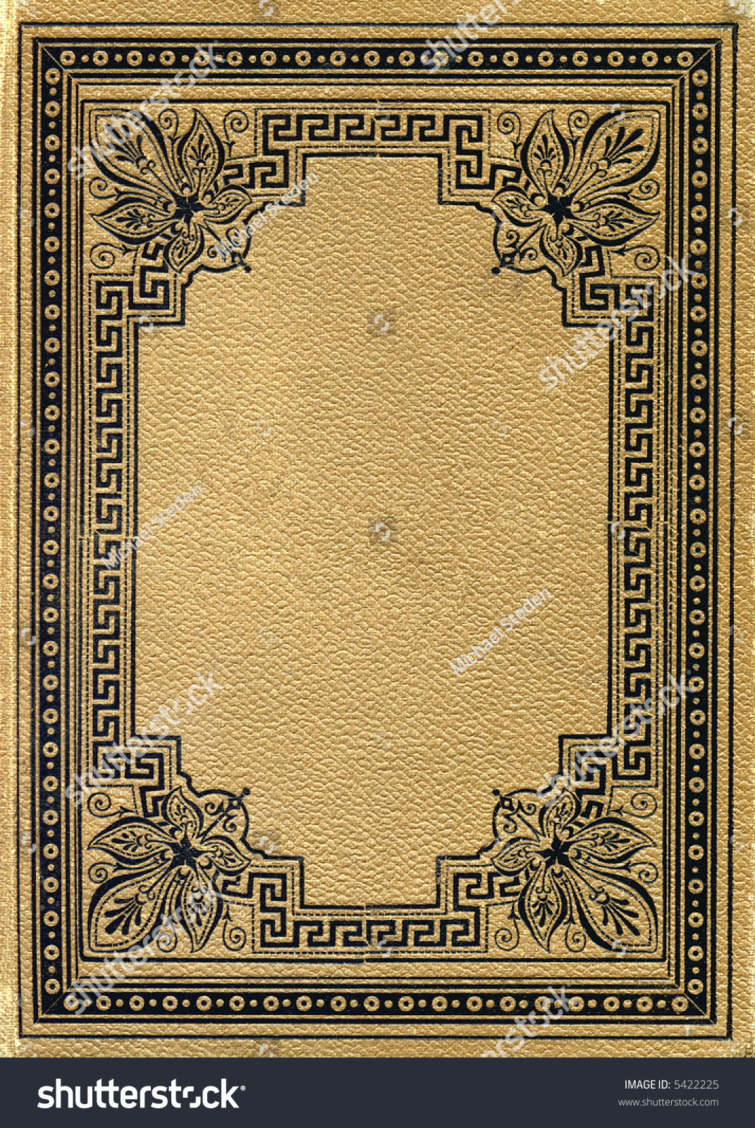 Vintage Book Cover Border : Ancient book cover front stock photo  shutterstock
