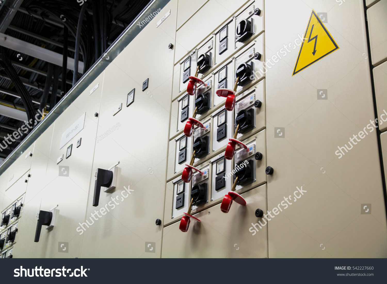 Electrical Breaker Box Locked Out Service Stock Photo Edit Now Home Wiring For Inspection Or Installation Lockout Tagout