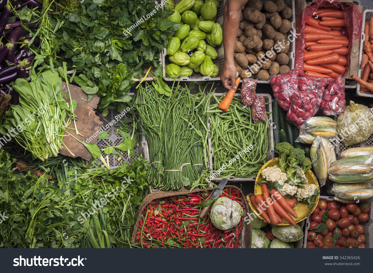 Ubud Bali Traditional Public Market Colorful Stock Photo Edit Now Balinese Fish And Vegetables Can Be Purchased At The
