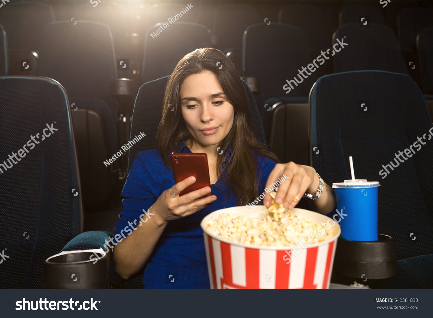 always on her phone gorgeous mature stock photo (royalty free