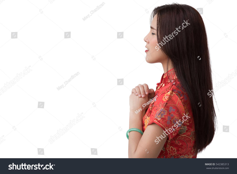 Asian Chinese Woman Wearing Cheongsam Dress Stock Photo Edit Now