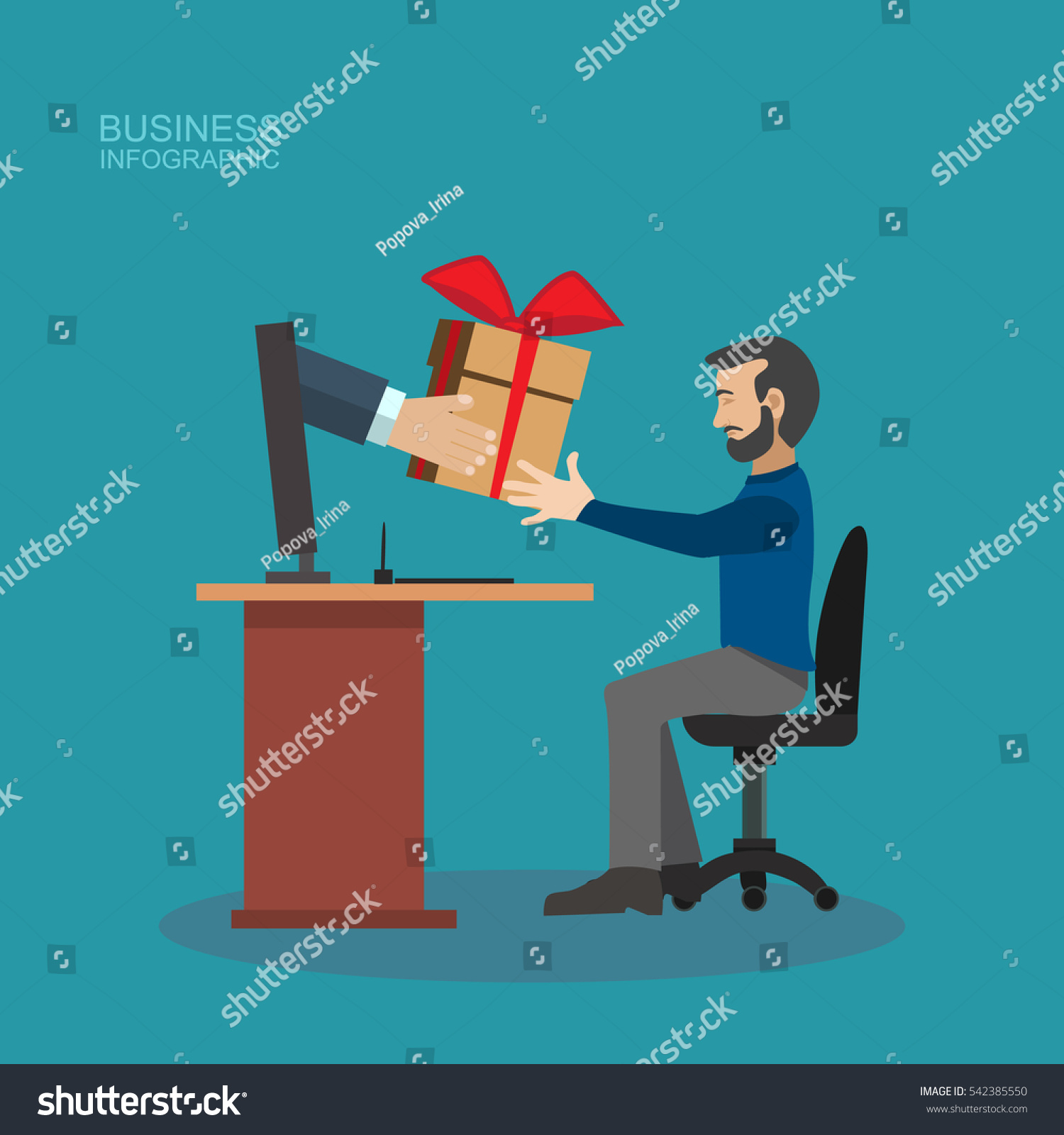 designer office desk isolated objects top view. Businessman Receiving Gift Christmas At Office Desk Isolated,Delivery Man Sent The Item Or Designer Isolated Objects Top View
