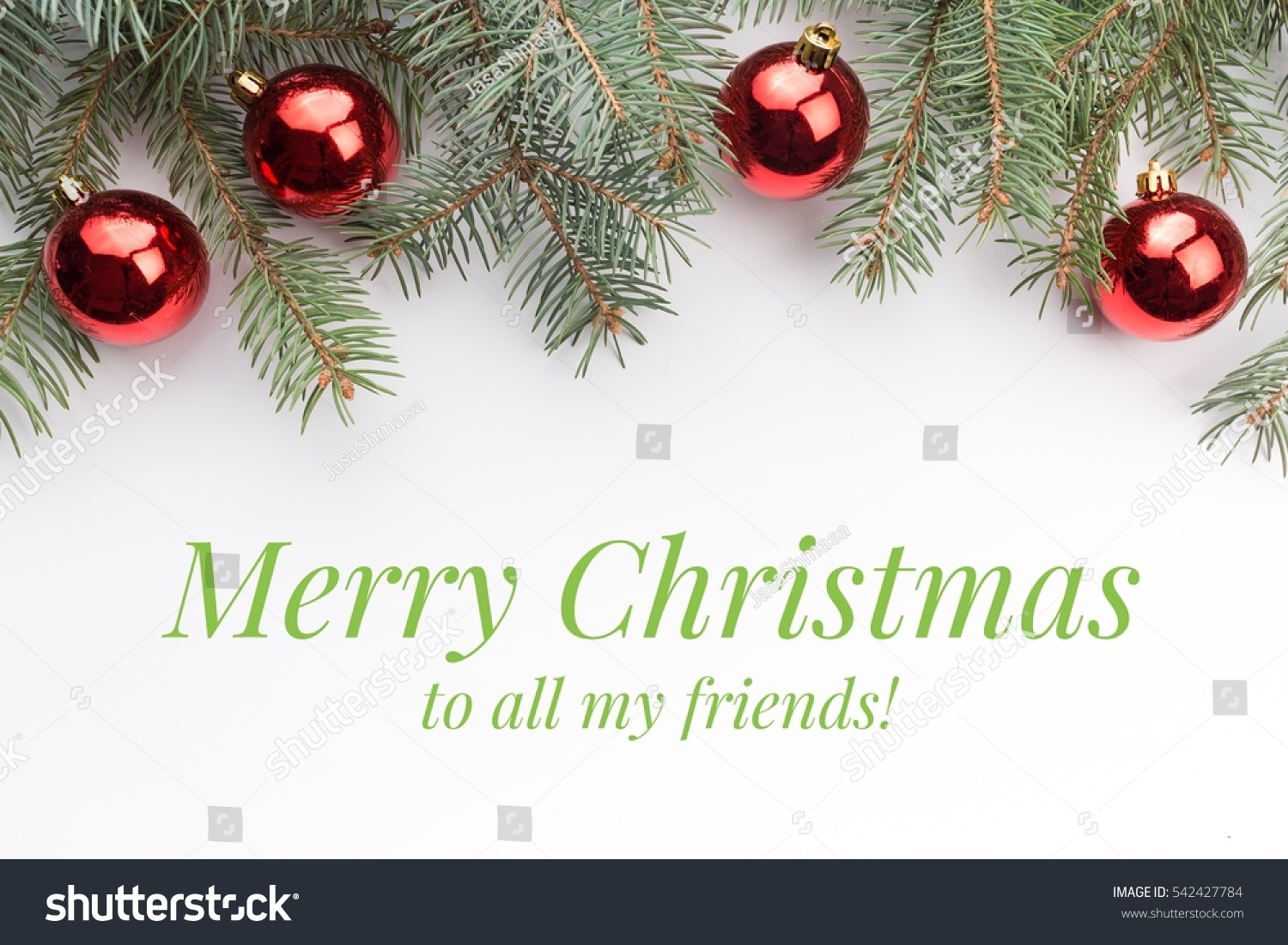 Merry Christmas To All.Background Christmas Decorations Message Merry Christmas