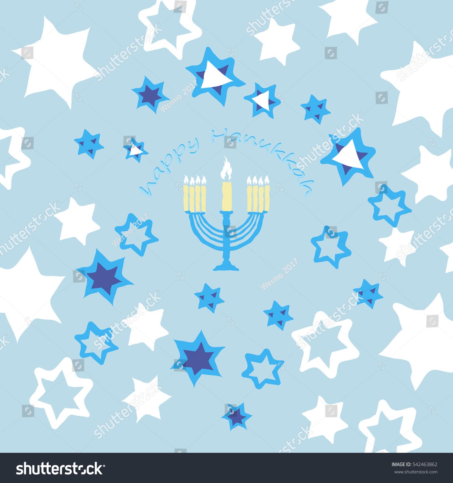 Hanukkah Menorah Star Israel Stock Photo Photo Vector