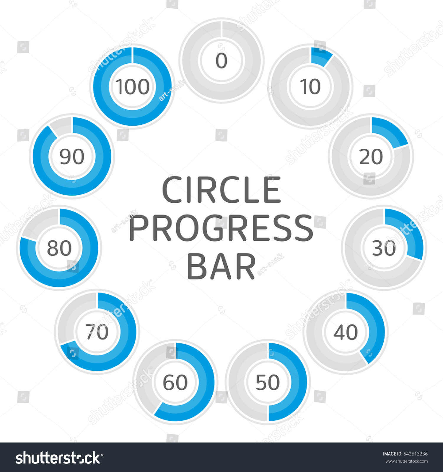Icons pie graph circle percentage blue stock vector hd royalty free icons pie graph circle percentage blue chart infographics vector 0 10 ccuart Image collections