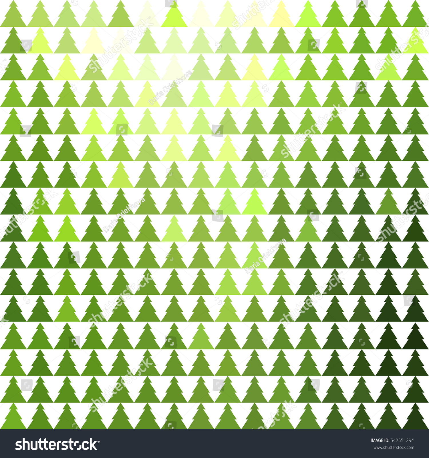 Firtree Abstract Geometric Christmas Trees Colorful Stock Vector ...