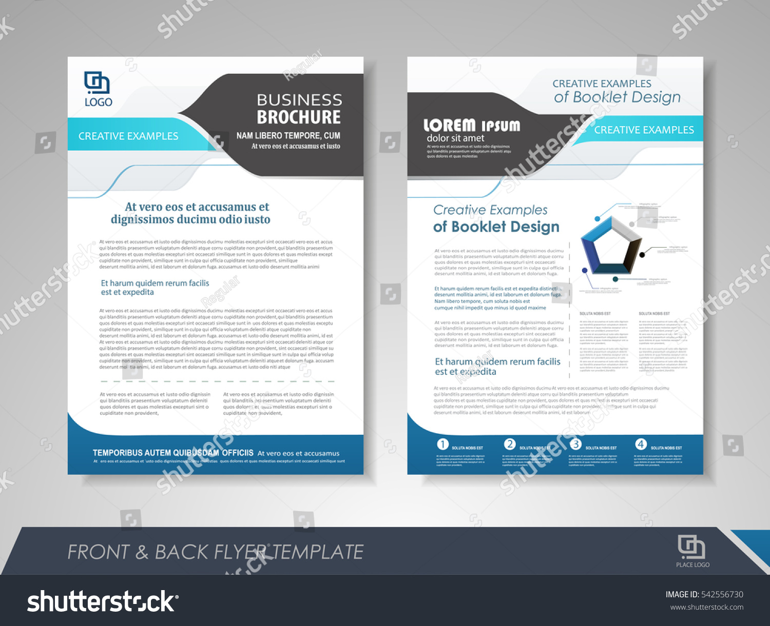blue annual report brochure flyer design stock vector 542556730 shutterstock. Black Bedroom Furniture Sets. Home Design Ideas